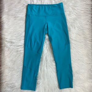 90 degree reflex blue athletic leggings sz XS